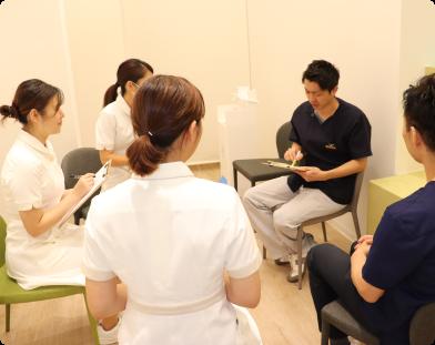 さいわいデンタルクリニック より良い治療を行うためのミーティング